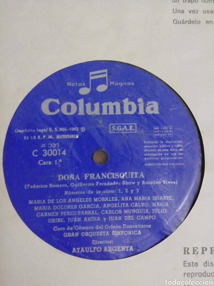 Discos de pizarra: Obra de dos discos a doble cara. Doña Francisquita, director Atalulfo Argenta. Columbia. - Foto 4 - 160231249