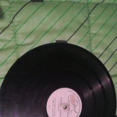 Discos de pizarra: ANTIGUO DISCO DE PIZARRA DE PUBLICIDAD TINTES IBERIA. BASTANTE RARO. Lote 160299917