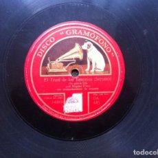 Discos de pizarra: DISCO DE PIZARRA (EL TRUST DE LOS TENORIOS. I PURITANI) MIGUEL FLETA. Lote 160344862