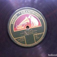 Discos de pizarra: DISCO DE PIZARRA ( A QUIEN LA SABE QUERER Y EL DE JACA. LOS GUSANOS Y QUISE REZAR...) JUSTO ROYO. Lote 160346914