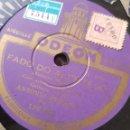 Discos de pizarra: 78 RPM FADO ANTONIO MENANO. Lote 160481221
