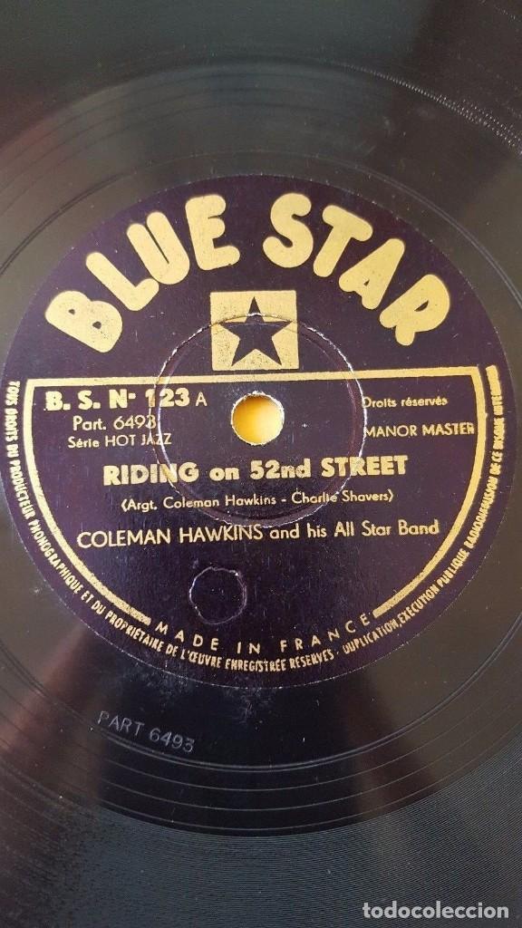 DISCO 78 RPM - BLUE STAR - COLEMAN HAWKINS - ALL STAR BAND - JAZZ - TAB SMITH - ORQUESTA - PIZARRA (Música - Discos - Pizarra - Jazz, Blues, R&B, Soul y Gospel)