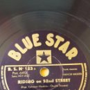 Discos de pizarra: DISCO 78 RPM - BLUE STAR - COLEMAN HAWKINS - ALL STAR BAND - JAZZ - TAB SMITH - ORQUESTA - PIZARRA. Lote 160621366