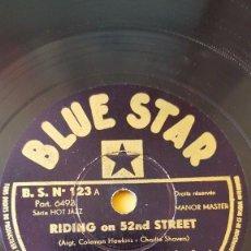 Discos de pizarra: DISCO 78 RPM - BLUE STAR - COLEMAN HAWKINS - ALL STAR BAND - JAZZ - TAB SMITH - ORQUESTA - PIZARRA. Lote 160621366