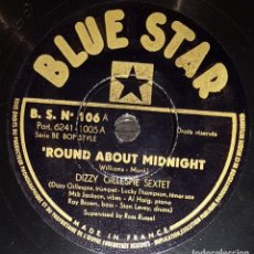 Discos de pizarra: DISCO 78 RPM - BLUE STAR - DIZZY GILLESPIE SEXTET - HOWARD MAC GHEE QUARTET - JAZZ - PIZARRA. Lote 160623182
