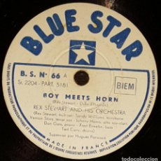 Discos de pizarra: DISCO 78 RPM - BLUE STAR - REX STEWART - ORQUESTA - BOY MEETS HORN - DUKE ELLINGTON - JAZZ - PIZARRA. Lote 160625258