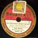 Discos de pizarra: DISCO 78 RPM - BROADCAST 20 CM - TOM BAILEY - ORQUESTA - I´M A DREAMER - SUNNYSIDE UP - PIZARRA. Lote 160627782