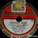 Discos de pizarra: DISCO 78 RPM - BROADCAST - RAMON NEWTON - ORQUESTA - JAZZ - SONNY BOY - AL JOLSON - PIZARRA. Lote 160629294
