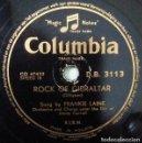 Discos de pizarra: FRANKIE LAINE - ROCK OF GIBRALTAR / HIGH NOON - COLUMBIA D.B. 3113 - EDICION HOLANDESA. Lote 160641342