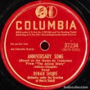Discos de pizarra: DINAH SHORE - ANNIVERSARY SONG / HEARTACHES, SADNESS AND TEARS - COLUMBIA 37234. Lote 160642930