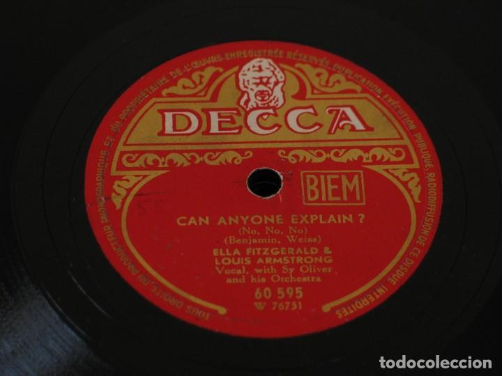 ELLA FITZGERALD AND LOUIS ARMSTRONG - CAN ANYONE EXPLAIN? / DREAM A LITTLE DREAM OF ME - DECCA (Música - Discos - Pizarra - Jazz, Blues, R&B, Soul y Gospel)