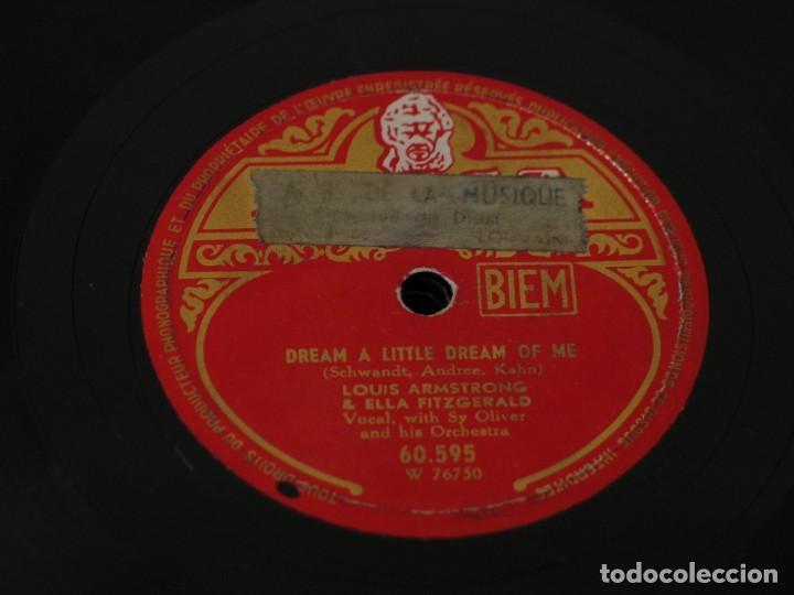 Discos de pizarra: Ella Fitzgerald and Louis Armstrong - Can Anyone Explain? / Dream A Little Dream Of Me - Decca - Foto 2 - 160690386