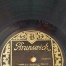 Discos de pizarra: DISCO 78 RPM - BRUNSWICK - AL JOLSON - ORQUESTA - THERE´S A RAINBOW ´ROUND MY SHOULDER - PIZARRA. Lote 161078494
