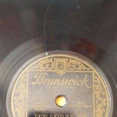 Discos de pizarra: DISCO 78 RPM - BRUNSWICK - COLONIAL CLUB ORQUESTA - REGENT CLUB ORQUESTA - RIO RITA - FILM - PIZARRA. Lote 161080262