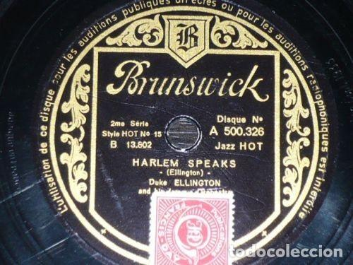 DISCO 78 RPM - BRUNSWICK - DUKE ELLINGTON - ORQUESTA - JAZZ HOT - HARLEM SPEAKS - PIZARRA (Música - Discos - Pizarra - Jazz, Blues, R&B, Soul y Gospel)