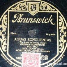 Discos de pizarra: DISCO 78 RPM - BRUNSWICK - JACK DENNY - MOUNT ROYAL HOTEL ORQUESTA - FOXTROT - JAZZ - PIZARRA. Lote 161083358