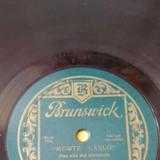 Discos de pizarra: DISCO 78 RPM - BRUNSWICK - PHIL SPITALNY - ORQUESTA - MONTE CARLO - FILM - FOXTROT - JAZZ - PIZARRA. Lote 161202110