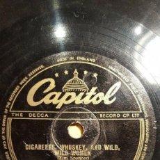 Discos de pizarra: DISCO 78 RPM - CAPITOL - RED INGLE - THE NATURAL SEVEN - SERUTAN YOB - NATURE BOY - JAZZ - PIZARRA. Lote 161219318