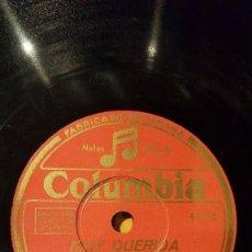 Discos de pizarra: DISCO 78 RPM - COLUMBIA - ANNE SHELTON - AMBROSE - GRAN ORQUESTA - MUY QUERIDA - FOX - PIZARRA. Lote 161341430