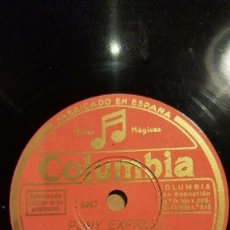 Discos de pizarra: DISCO 78 RPM - COLUMBIA - BILLY COTTON - ORQUESTA - PONY EXPRESS - FIESTA CON BEBIDAS - PIZARRA. Lote 161342498