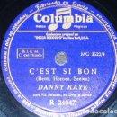 Discos de pizarra: DISCO 78 RPM - COLUMBIA - DANNY KAYE - VICTOR YOUNG - VIC SCHOEN - C´EST SI BON - RARO - PIZARRA. Lote 161615878