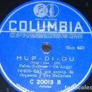 Discos de pizarra: DISCO 78 RPM - COLUMBIA - DORIS DAY - ORQUESTA - ESE VIEJO SENTIMIENTO - HOOP DEE DOO - PIZARRA. Lote 161621898