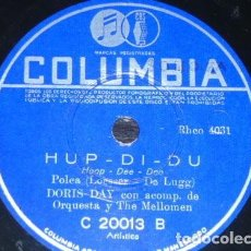 Dischi in gommalacca: DISCO 78 RPM - COLUMBIA - DORIS DAY - ORQUESTA - ESE VIEJO SENTIMIENTO - HOOP DEE DOO - PIZARRA. Lote 161621898