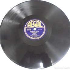 Discos de pizarra: DISCO PIZARRA. REGAL. C10159. INOLVIDABLE / TANGO AZUL.. Lote 161623154