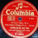 Discos de pizarra: DISCO 78 RPM - COLUMBIA - ESTRELLAS DE JAZZ 1950 - HOT CLUB MADRID - BUGLE CALL RAG - FOX - PIZARRA. Lote 161623290
