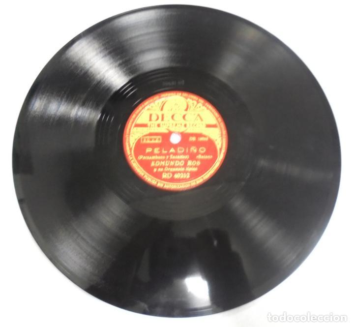 DISCO DE PIZARRA. DECCA. RD 40252. DELICADO / PELADIÑO. (Música - Discos - Pizarra - Otros estilos)