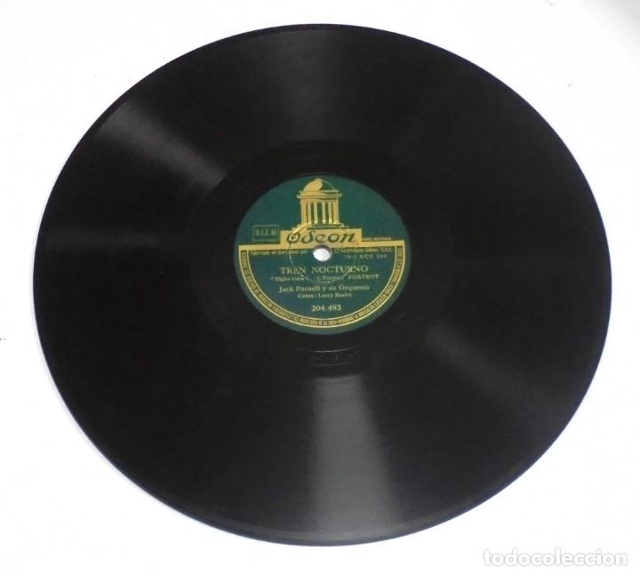DISCO DE PIZARRA. ODEON. 204493. LOS PREGONEROS / TREN NOCTURNO. (Música - Discos - Pizarra - Otros estilos)
