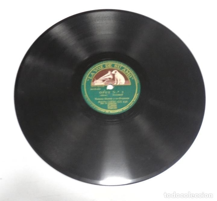 Discos de pizarra: DISCO PIZARRA. LA VOZ DE SU AMO. GY 828. OPUS Nº 1 / SWING ARISTOCRATICO - Foto 2 - 161743014