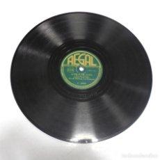 Discos de pizarra: DISCO PIZARRA. REGAL. C 8860. ACERAS DE CUBA / EL BAILE DE LOS LEÑADORES. Lote 161743630