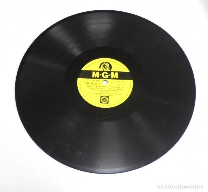 Discos de pizarra: DISCO PIZARRA. MGM. 8217. ERES MI BUENA ESTRELLA / CANTANDO BAJO LA LLUVIA. GENE KELLY - Foto 2 - 161750062