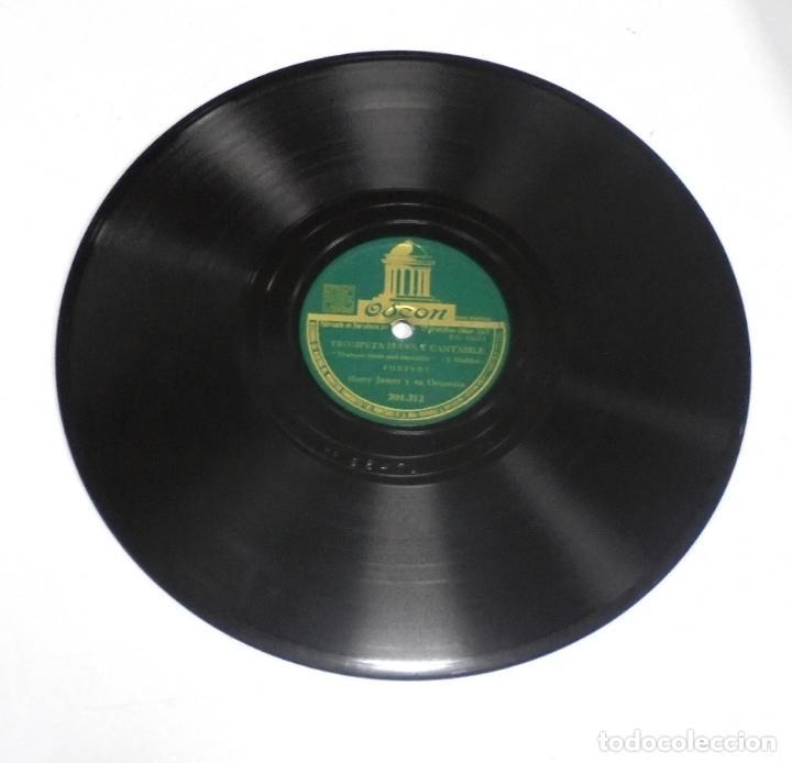 DISCO PIZARRA. ODEON. 204312. TROMPETA BLUES Y CANTABILE / CONCIERTO PARA TROMPETA (Música - Discos - Pizarra - Otros estilos)