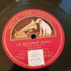 Discos de pizarra: MIGUEL FLETA AY AY AY - LA DOLORES ( BRETON ) DISCO DE PIZARRA. Lote 161764165