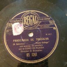 Discos de pizarra: CORO DE RUADA - FOLIADA DE ENTRIMO - PANDEIRADA DE TRASALVA DISCO PIZARRA. Lote 161796886