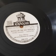 Discos de pizarra: PEPE BLANCO 78 RPM. Lote 161878758