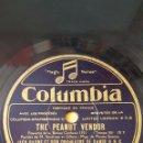 Discos de pizarra: DISCO 78 RPM - COLUMBIA - JACK PAYNE - BEN SELVIN - ORQUESTA - THE PEANUT VENDOR - FOXTROT - PIZARRA. Lote 161921442