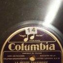 Discos de pizarra: DISCO 78 RPM - COLUMBIA - JOSEPHINE BAKER - JAZZ - CASINO DE PARIS - LA PETITE TONKINOISE - PIZARRA. Lote 161922534