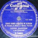 Discos de pizarra: DISCO 78 RPM - COLUMBIA - LIONEL HAMPTON - ORQUESTA - TODOS SOMOS JUGUETES DE ALGUIEN - PIZARRA. Lote 161924758