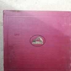 Discos de pizarra: ALBUM DE DISCOS DE LA VOZ DE SU AMO. Lote 162293858