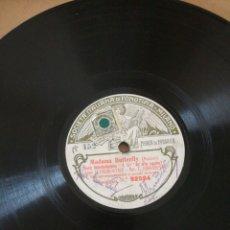 Discos de pizarra: DISCO DE PIZARRA DE MADAMA BUTTERFLY. Lote 162566674