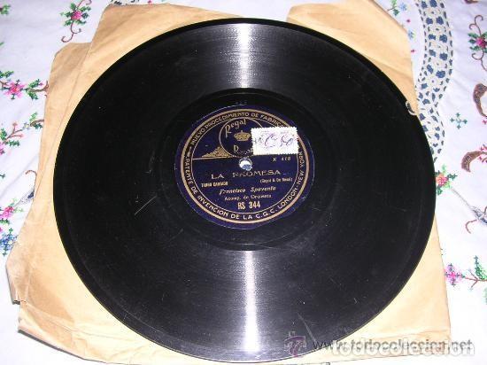 DISCO REGAL LA PROMESA / PATOTERO SENTIMENTAL (Música - Discos - Pizarra - Clásica, Ópera, Zarzuela y Marchas)