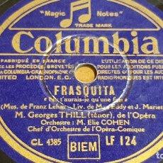 Discos de pizarra: PIZARRA !! ORCHESTRE M. ELIE COHEN / FRASQUITA / COLUMBIA - 25 CM.. Lote 162694306