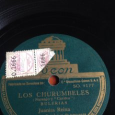 Discos de pizarra: LOS CHURUMBELES JUANITA REINA. Lote 162917853
