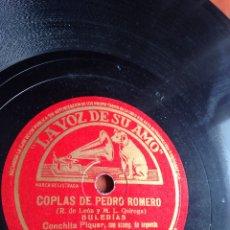 Discos de pizarra: COPLAS DE PEDRO ROMERO CONCHITA PIQUER. Lote 162921550