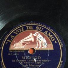 Discos de pizarra: MÉXICO LUIS MARIANO. Lote 162922090