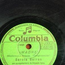 Discos de pizarra: MADRE GARCÍA GUIRAO. Lote 162922549