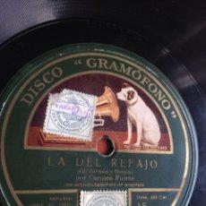 Discos de pizarra: LA DEL REFAJO CARMEN FLORES. Lote 162947458